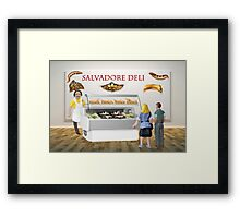 Gala and Ramon decide to have a surreal lunch at the deli. Framed Print