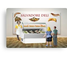 Gala and Ramon decide to have a surreal lunch at the deli. Canvas Print