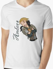 Anders with kittens Mens V-Neck T-Shirt