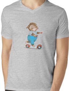 Garth William's Little Pig Mens V-Neck T-Shirt