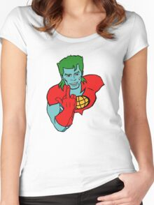 Captain Planet 'Save the Earth' Women's Fitted Scoop T-Shirt