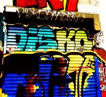 Graffiti Wall Disko Butt Philly by Kater