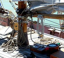 Tecla...........the deck of a working boat ! by Roy  Massicks