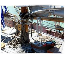 Tecla...........the deck of a working boat ! Poster