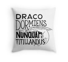 Wizard School Motto Throw Pillow