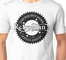 RetroJohn's classic retro logo with motto Unisex T-Shirt