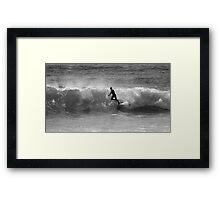 Ballet Surfing Framed Print