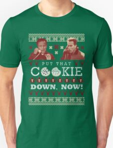 Put That Cookie Down, Now! Ugly Sweater Design Unisex T-Shirt