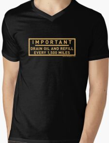 Minimum Oil Level Mens V-Neck T-Shirt