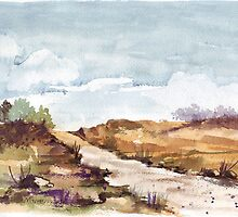 The road to a friend's farm 1 by Maree  Clarkson