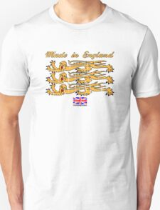 Made In England, with Regal Lions Unisex T-Shirt