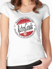 Retro Grade, classic motor oil Women's Fitted Scoop T-Shirt