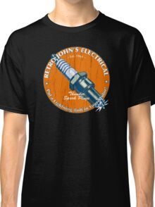 Retro John's Electrical auto and motorcycle spark plugs Classic T-Shirt