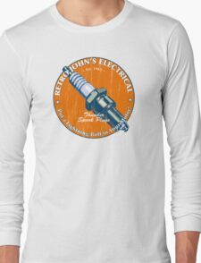 Retro John's Electrical auto and motorcycle spark plugs Long Sleeve T-Shirt