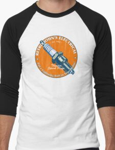 Retro John's Electrical auto and motorcycle spark plugs Men's Baseball ¾ T-Shirt