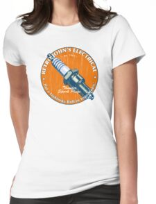 Retro John's Electrical auto and motorcycle spark plugs Womens Fitted T-Shirt