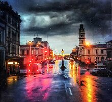 Lydiard St, Ballarat, in the Rain by Mitchell Harris