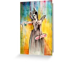 Titania with Skateboard Greeting Card