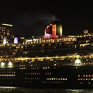 QM2 In Sydney Harbour by Kezzarama