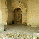 Old door of L'Abbaye Fontevraud by hans p olsen
