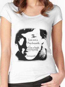 Sherlock High Functioning Sociopath Tee!! Women's Fitted Scoop T-Shirt