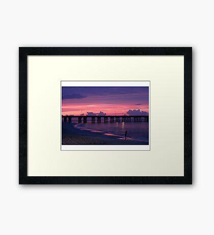 ALONE AT SUNSET Framed Print