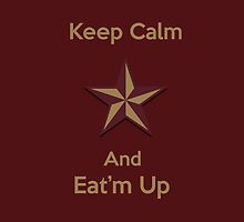 Texas State Star Keep Calm and Eat'm Up iPad by Merwynlee