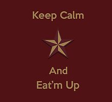Texas State Star Keep Calm and Eat'm Up iPhone by Merwynlee