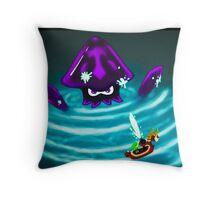 Kraken in the Great Sea Throw Pillow