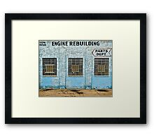 Engine Rebuilding Building Framed Print