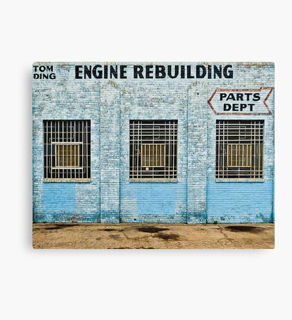 Engine Rebuilding Building Canvas Print