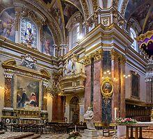 Mdina Baroque Cathedral Malta by Edwin  Catania