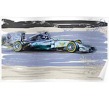 Lewis Silver Arrow Bahrain Poster