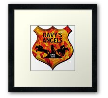 Davy's Angels Badge Framed Print
