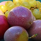 Passionfruit, Pomegranate and Grapes by Sunchia Milic