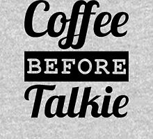 COFFEE BEFORE TALKIE Mens V-Neck T-Shirt