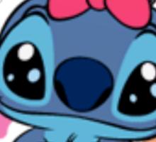 Cute Stitch in pink Sticker