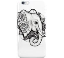 Mandala dot work elephant iPhone Case/Skin