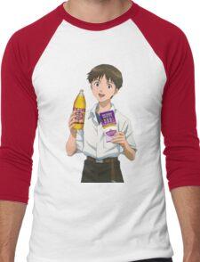 Ghetto Shinji Ikari Men's Baseball ¾ T-Shirt