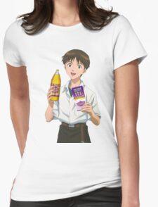 Ghetto Shinji Ikari Womens Fitted T-Shirt