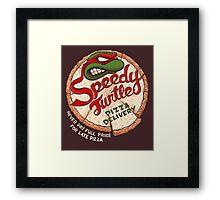 Speedy Turtle Framed Print