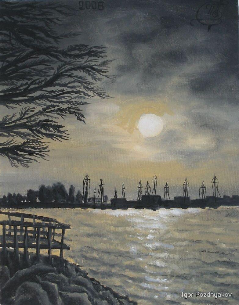 Oil painting - Emeryville Marina II, 2008 by Igor Pozdnyakov