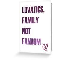 Lovatic Family Greeting Card