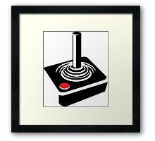 Retro Atari Joystick Framed Print