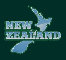 NEW ZEALAND map with NZ by jazzydevil