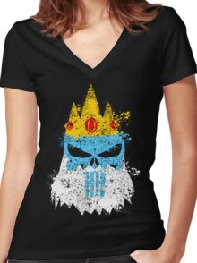 Ice King Punisher Women's Fitted V-Neck T-Shirt