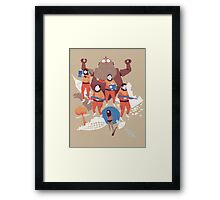 time crime Framed Print