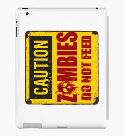 Bloody Zombies Caution Sign iPad Case/Skin