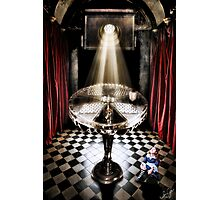 The Alice Series: A Glass Table Photographic Print