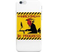 Devil Hacking in Progress iPhone Case/Skin